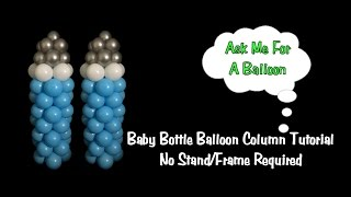 getlinkyoutube.com-Baby Bottle Balloon Column No Stand Tutorial