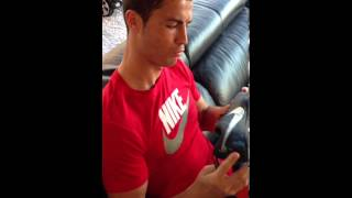 Cristiano Ronaldo unboxing new Mercurial boots from Nike Football