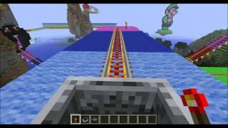getlinkyoutube.com-Minecraft Rainbow Road Mario Kart 64