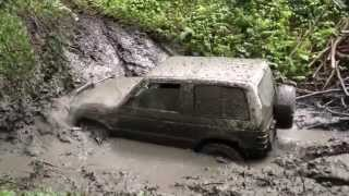 getlinkyoutube.com-Mitsubishi Pajero 3500 V6 ... extrem race in mud