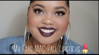 getlinkyoutube.com-My FAVE MAC Fall Lipsticks | KelseeBrianaJai