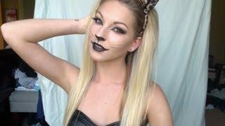 getlinkyoutube.com-Sexy Leopard Halloween Tutorial ♡