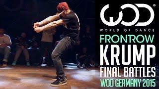 Krump Final Battle   FRONTROW   World of Dance Germany Qualifier 2015   #WODGER2015
