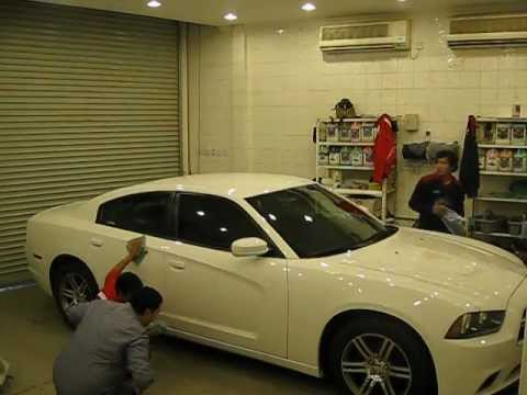 Dodge Charger getting Waxed (Timelapse)