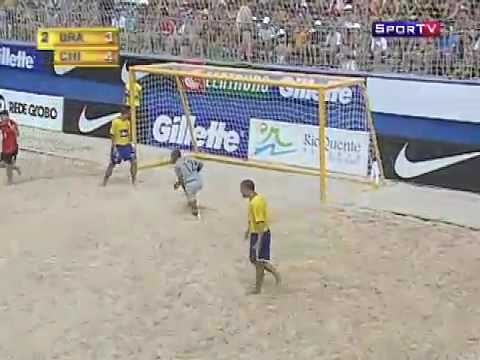 futbol playa chile 11 brasil 8, copa latina 2010