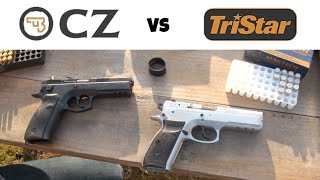 getlinkyoutube.com-TriStar P-120 vs. CZ 75 SP-01
