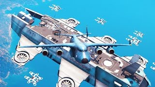 getlinkyoutube.com-LANDING A CARGO PLANE ON AN AIRSHIP? (Just Cause 3 Sky Fortress DLC)