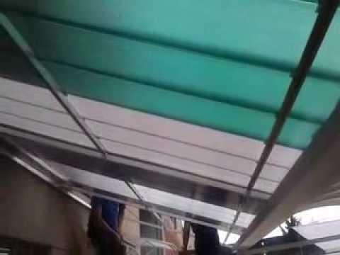 Cobertura de Policarbonato com  telhas click - instalação Plana / reta de  2 x 5 m. - Polysolution