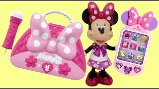 MINNIE MOUSE Happy Helper Bag, Cellphone, Sunglasses, Passport, Toy Hunting Disney Elsa Anna / TUYC