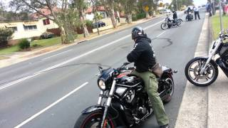 getlinkyoutube.com-Harley Davidson burnouts after cousins wedding