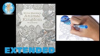 getlinkyoutube.com-Millie Marotta's Animal Kingdom 50 Postcards Adult Coloring Book Bird Extended - Family Toy Report