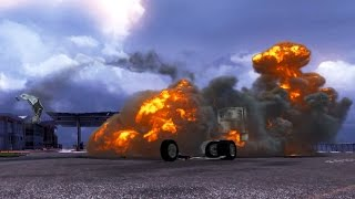 getlinkyoutube.com-Explosion Simulation ETS 2 - Fire Bursts - Flashes in Euro Truck Simulator 2