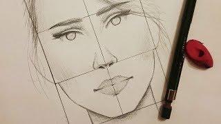 getlinkyoutube.com-تعليم الرسم : كيف ترسم نسب الوجه الصحيحة للانسان ~ من الامام وفي مستوى النظر
