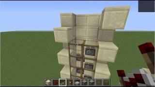 getlinkyoutube.com-マインクラフト・4×4ピストンエレベーター(Minecraft 4×4 Piston Elevator)
