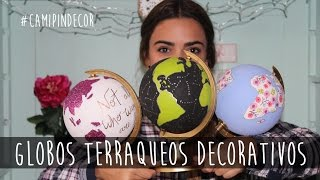 getlinkyoutube.com-Globos Terraqueos Decorativos - Cami Pin
