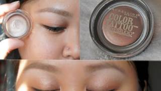getlinkyoutube.com-Maybelline Color Tattoo 24HR Cream Gel Eyeshadow Review + Demo