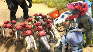 getlinkyoutube.com-Ark Survival Evolved - FECAL FIGHTS - Monkey Clan Wars Gameplay 1080p HD