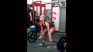 getlinkyoutube.com-Flair 12 year old girl dead lifts 200 pounds
