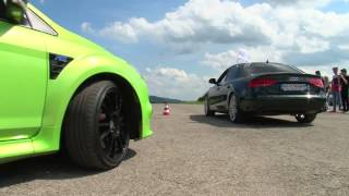 getlinkyoutube.com-Ford Focus RS vs Audi A4 3,0 TDI Profi tuning