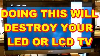 getlinkyoutube.com-WHAT NOT TO DO TO A LED LCD TV Sony LED LCD TV with a White Bar In The Picture