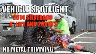 """getlinkyoutube.com-Spotlight - 2014 Chevy Silverado 1500, 4"""" Lift, 20X10's and 285's"""