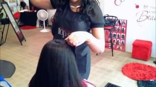 getlinkyoutube.com-Full sew in weave with side bangs