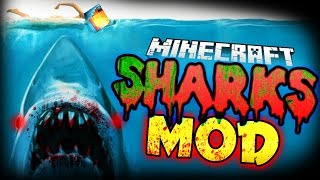 getlinkyoutube.com-Minecraft Mod | KILLER SHARKS MOD! (Sealife, Harpoons, and More!) - Jaws Mod Showcase