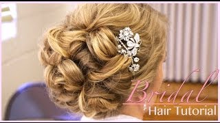 getlinkyoutube.com-Classic Bridal Updo: Hair Style Tutorial