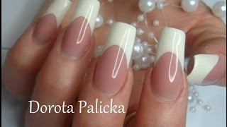 getlinkyoutube.com-French by Dorota Palicka with Nail Perfect Brush on french gel
