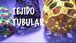 getlinkyoutube.com-Forro Tubular Punto Red Malla ganchillo, crochet cover glass crochet DIY