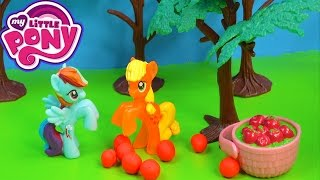 getlinkyoutube.com-MLP Rainbow Dash Applejack Stolen Apples Fight My Little Pony Playing Video Cookieswirlc