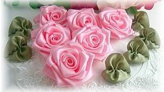 getlinkyoutube.com-طريقة عمل وردة من شريط الستان   Diy ribbon rose