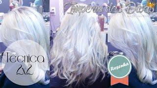 getlinkyoutube.com-Técnica 2x2 matizando o cabelo LOIRO PLATINADO.