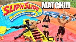 getlinkyoutube.com-GTS WRESTLING: SLIP N SLIDE MATCH! WWE Mattel Figure Animation PPV Event!!