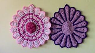 getlinkyoutube.com-tapetes o carpetas tejidas en crochet paso a paso para sillas o muebles