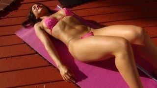 getlinkyoutube.com-Girl's Home Bikini Abdominal Workout!