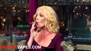 Katherine Heigl & David Letterman vaping