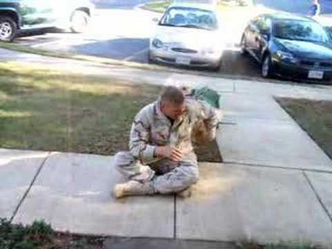 Seeing my dog the day I got back from Afghanistan