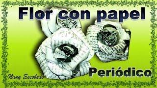 getlinkyoutube.com-FLOR CON PAPEL PERIÓDICO