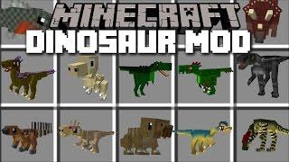 getlinkyoutube.com-Minecraft LOTS OF DINOSAURS MOD / HIDE FROM THE T-REX!! Minecraft