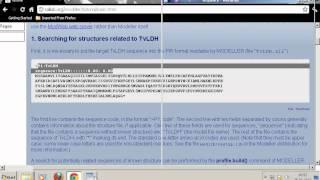 getlinkyoutube.com-Modelling proteins using Modeller 9.10 [Homology Modelling]