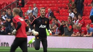 getlinkyoutube.com-Live From Old Trafford Man United vs QPR Pre Match Warm up