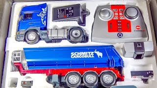 getlinkyoutube.com-RC truck SCANIA gets unboxed, loaded & DIRTY for the first time!