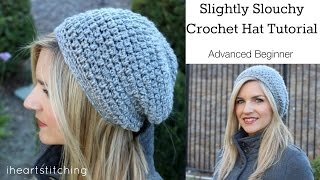 getlinkyoutube.com-Slightly Slouchy Crochet Hat Tutorial