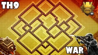 "getlinkyoutube.com-Clash of Clans ♦  ""TH9 BEST WAR/TROPHY BASE "" ♦ Anti 3 Star (New)"