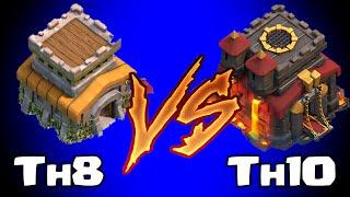 getlinkyoutube.com-Clash of clans TOWN HALL 8 vs TOWN HALL 10 (Awesome raids)