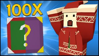 Unturned - 100 NEW CASE OPENING! (Purple Mystery Box & Festive Gift Unboxing)