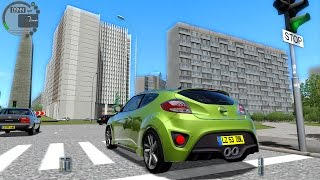 getlinkyoutube.com-City Car Driving 1.4.0 Huyndai Veloster 2012 [1080P]