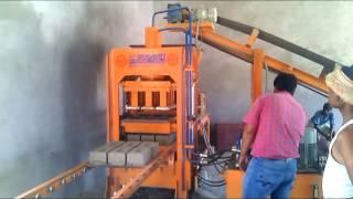 getlinkyoutube.com-Semi Automatic  Fly Ash Brick Making Machine