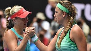 getlinkyoutube.com-Victoria Azarenka v Angelique Kerber highlights (QF) | Australian Open 2016
